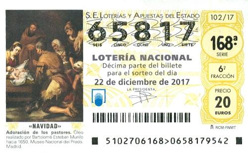 ticket de la Loteria de Navidad