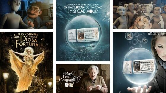 Les publicités de la Loteria de Navidad