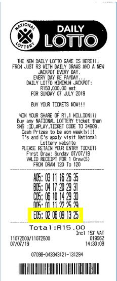 gain Daily Lotto